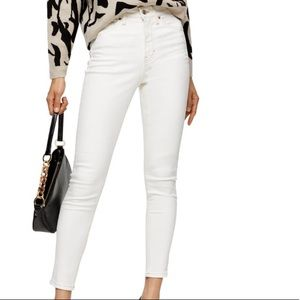 Topshop White Jamie High Rise Skinny Jeans Size 25